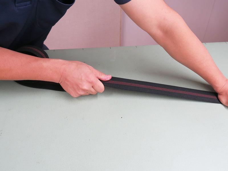 ウェービングテープ・幅:50mm・座面板がくり抜かれているときの弾力材